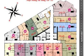 Cần bán gấp căn 06 tại tòa Tháp Doanh Nhân Tower, DT: 63.98m2, giá: 21tr/m2 (bao tên) 0971285068