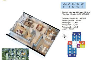 Bán căn hộ 83m2, 2PN, 2WC tòa R2 Goldmark với giá chỉ 2.3 tỷ