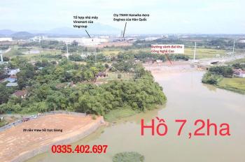 Còn 1 lô duy nhất Ven hồ Vực Giang 7,2 Ha Hạ Bằng - Thạch Thất - Hà Nội - Giá 14 triệu/m2