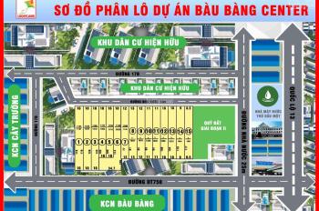 372 triệu sở hữu 1 sào đất hơn 1000m2, DT 10x124m ngay trung tâm Bàu Bàng