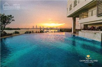 Bán căn 2PN + kho (110m2) khu Diamond Island, q2 giá 7 tỷ tầng cao có 2 view sông + hồ bơi