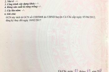 Bán đất mặt tiền Nguyễn Thị Đăng, xã Tân Thạnh Đông, Củ Chi. DT 6m x 20m, sổ riêng, xây tự do