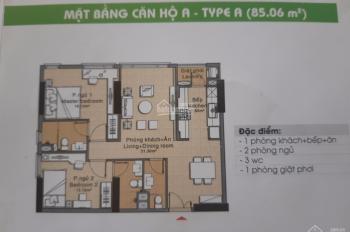Bán căn hộ Đức Khải 2PN, 85m2, nhà trống, tầng vừa, giá 1tỷ7 LH 0916887727