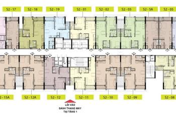 Căn hộ 2 ngủ góc đông nam tòa S2 Vinhomes Symphony, dt: 76m2, giá 3,4ty tặng voucher Vinfast 200tr