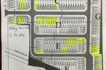 Cần bán một số lô đất mặt tiền phường Kim Dinh, TP Bà Rịa, chỉ 15,5tr/m2