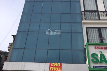 Cho thuê nhà MP Trần Quốc Hoàn, Cầu Giấy. DT 125m2, 8 tầng, 1 hầm