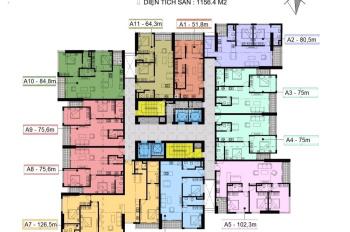 Chính chủ bán căn 2503, DT 75m2, chung cư Center Point 110 Cầu Giấy giá 36tr/m2 bao phí 0971285068