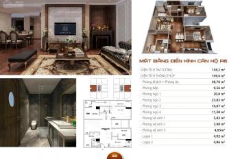 Siêu phẩm căn hộ VIP nhất dự án HC Golden City, 149m2 thiết kế 4PN, full NT cao cấp.Số lượng có hạn