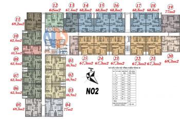 Chính chủ cần bán căn hộ 2PN 2WC chung cư Ecohome 3 Bắc Từ Liêm, DT 62m2, giá 1,2 tỷ. LH 0904516638