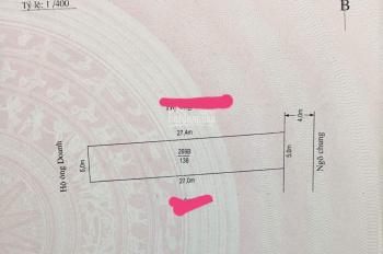 Bán lô đất 136m2, giá 850tr tại Đặng Cương, An Dương