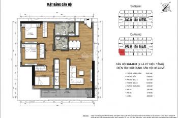 Bán gấp căn X04 HH2 full đồ sổ đỏ chính chủ tại 90 Nguyễn Tuân, giá 32tr/m2 có TL