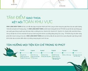 Cần bán nền Vĩnh Long - Dự án Vĩnh Long New Town CĐT Hưng Thịnh - Đã có sổ đỏ - LH 0909956065