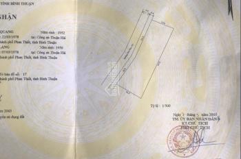 Cần bán lô đất MT Hàn Mặc Tử P. Phú Hài Tp. Phan Thiêt DT: 1298m2 giá chỉ 6,9tr/m2