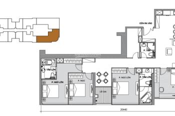 Bán căn hộ 4PN Ba Son DT 160m2, căn vòng cung view trực diện Bitexco giá 30 tỷ bao TP. 0933384539