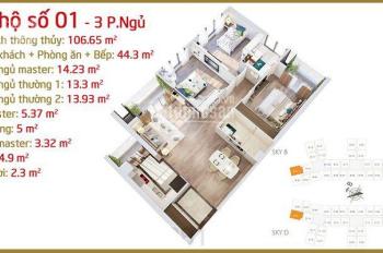 Imperia Sky Garden - Bán căn Góc 3PN diện tích 110m2, Giá 3.8 tỷ, ký HĐMB trực tiếp CĐT.