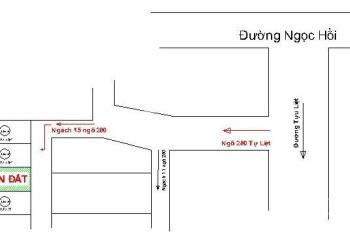 Chính chủ bán nhanh đất đường Tựu Liệt - Thanh Trì. DT 46,8m2, hướng Nam. LHCC 0911884125