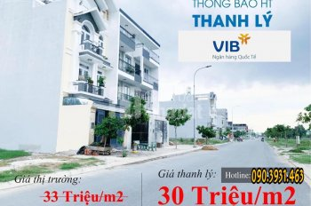 Ngân Hàng VIB,Vietcombank Hỗ trợ Thanh lí 10 Nền Đất Gần Aeon Mall Tên Lửa Q.Bình Tân-TP.HCM