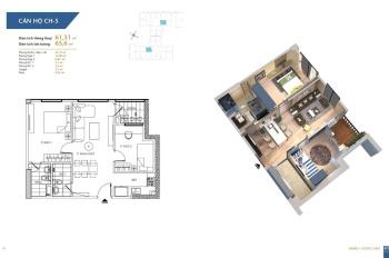 Chính chủ bán căn 61,31m2 chung cư Hà Nội Homeland, 2PN 2vs, giá bán: 1,5 tỷ, LH: 0962251630