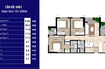 Cần bán căn 3PN DT 102m2 dự án Pandora Triều Khúc, LH 0915446000