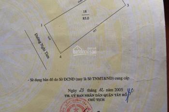 Bán gấp nhà mặt phố Nghi Tàm, lô góc 85m2, xây 5 tầng, mặt tiền rộng 6m, giá chỉ 19.8 tỷ