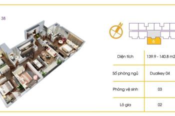 Bán căn Dualky suất ngoại giao Tòa V1 4PN - 140m2 tầng đẹp giá chỉ 3,2 tỷ LS 0% 24th. 0973760856