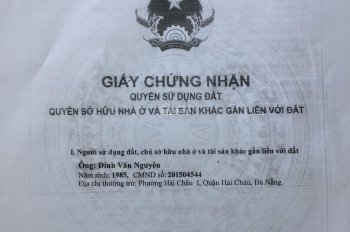 Chuyển nhượng lô đất vàng đường biển Nguyễn Tất Thành, TP Đà Nẵng