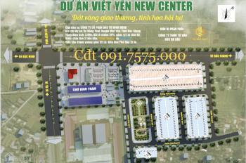 Bán đất nền mặt đường quốc lộ ngã tư Đình Trám, Việt Yên, đã có sổ, giá từ 14 tr/m2 LH 0917575000