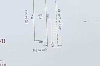 Bán đất mặt trục sau trường cao đẳng Du Lịch, Nam Sơn, An Dương, 98m2, góc bánh chưng