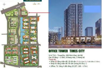 Cho thuê sàn văn phòng hạng A tại Times City 458 Minh Khai - Hai Bà Trưng - HN. LH 0978.764.669