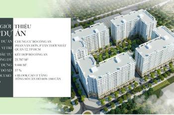 Hot! Booking căn hộ nhà ở xã hội P. Tân Thới Nhất, gần cầu Tham Lương, giá tốt nhất Quận 12