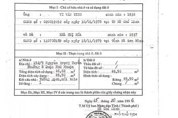 Tôi chính chủ cần bán căn nhà ở Nguyễn Trọng Tuyển 1 trệt 2 lầu 5PN + WC, giá 8 tỷ