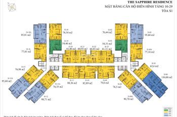 Chuyển nhượng căn hộ tại tòa S1 chung cư The Sapphire Residence, Hạ Long, Quảng Ninh. 0392516888
