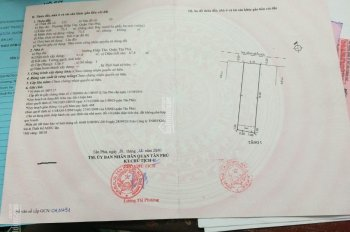 Nhà chính chủ hẻm 189 Hòa Bình, DT 4.1x18m, giá 5.2 tỷ, gần Đầm Sen, P Hiệp Tân