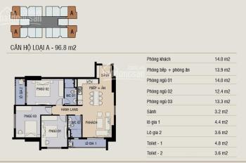 Bán căn góc 3PN 3 góc thoáng Thăng Long Capital, giá 1,9 tỷ, nhận nhà ở ngay. LH 0912988315