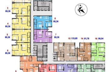 Tôi cần bán chung cư Handico 52 Cầu Giấy, căn hộ tầng 15, 2 căn 2 phòng ngủ, 1 căn 3 phòng ngủ