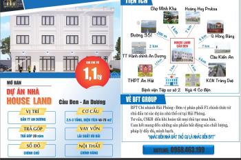 Bán nhà xây mới 50m2x3T, ô tô vào nhà chỉ với 1.1 tỷ. Cầu Đen - Đặng Cương - Hải phòng. 0968463199