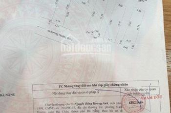 Chính chủ cần bán nhà số K183/03 đường Hoàng Diệu , Quận Hải Châu, Tp. Đà Nẵng