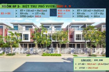 Nhà phố quận 2: Giá gốc: 9,4 tỷ/ căn vat, 120 m2 sổ hồng riêng