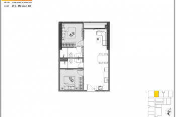 Căn 2 Phòng ngủ 70.2 m2 giá 2.090 tỷ Chung cư Green Diamond Yết Kiêu Hạ Long, Giá gốc Chủ đầu tư