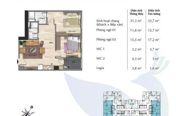 Bán cắt lỗ căn 612 dự án Eurowindow River Park 67.6m2 tòa Park 1 2PN nhà mới nhận. LH: 0985085747