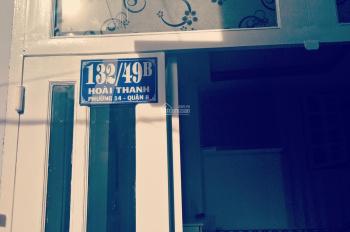 Chính chủ bán nhà P. 14, quận 8, gần chợ, sổ riêng không quy hoạch