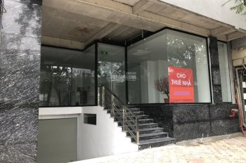 Cho thuê showroom, ngân hàng nhà mp Hoàng Quốc Việt,MT : 11m, vỉa hè : 6m, vị trí siêu đẹp