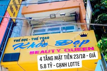 Bán nhà 4 tầng Mặt tiền đường 23/10, trung tâm thành phố Nha Trang ( vị trí gần Lotte )
