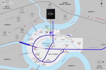 Bán căn hộ The River Thủ Thiêm Q2 - voucher đến 390tr - 0938340705 - 0852744239