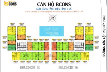 Giỏ hàng Sang Nhượng Bcons Miền Đông 1PN 980tr, 2PN 1,490tỷ, 3PN 1.850tỷ bao thuế, Full vị trí căn