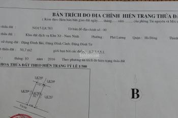 Cần bán mảnh đất dịch vụ tại Phú Lương - Hà Đông ngay cạnh khu đô thị Thanh Hà - 50,7m2 giá 2tỷ5
