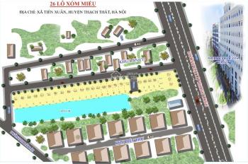 Bán đất nền Hòa Lạc - đối diện cụm đại học Quốc Gia - 100% đã có sổ đỏ - LH 0902225155