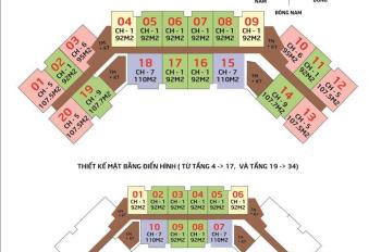 Chính chủ bán căn hộ 3PN 111m2, ban công Đông Nam, B-2215 tại IA20 Ciputra, 22tr/m2 LH 0989 582 529