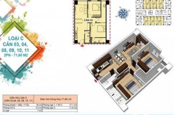 600tr (60%) sở hữu ngay căn hộ chung cư thương mại Hòa Khánh Đà Nẵng, căn hộ 71m2, 2PN