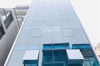 Cho thuê nhà MP Trung Hòa, tòa nhà kính hiện đại, DT 110m2 6 tầng có thang máy, 90tr/th, 0968120493